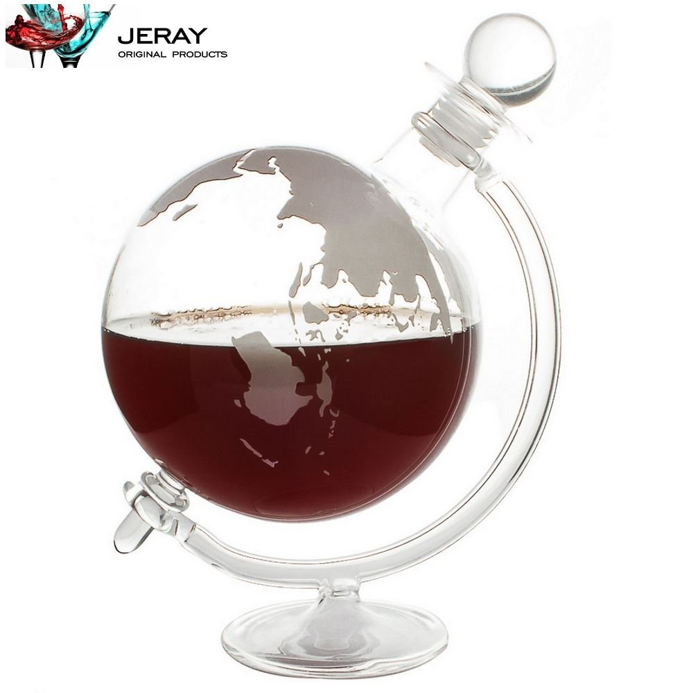 Jeray Mixology Globe Glass Whisky Decanter with Cradle