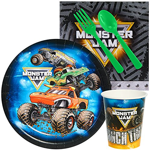 BirthdayExpress Monster Jam Party Supplies - Snack Party Pack for 8 ()