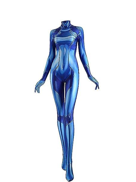 Amazon Com Yueliang Zero Suit Samus Cosplay Costume Samus