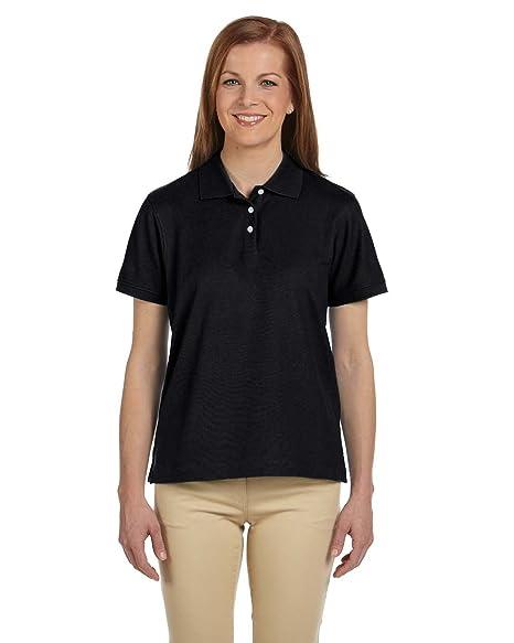 5c943387 Devon & Jones Ladies Pima Pique Polo Shirt at Amazon Women's Clothing store:
