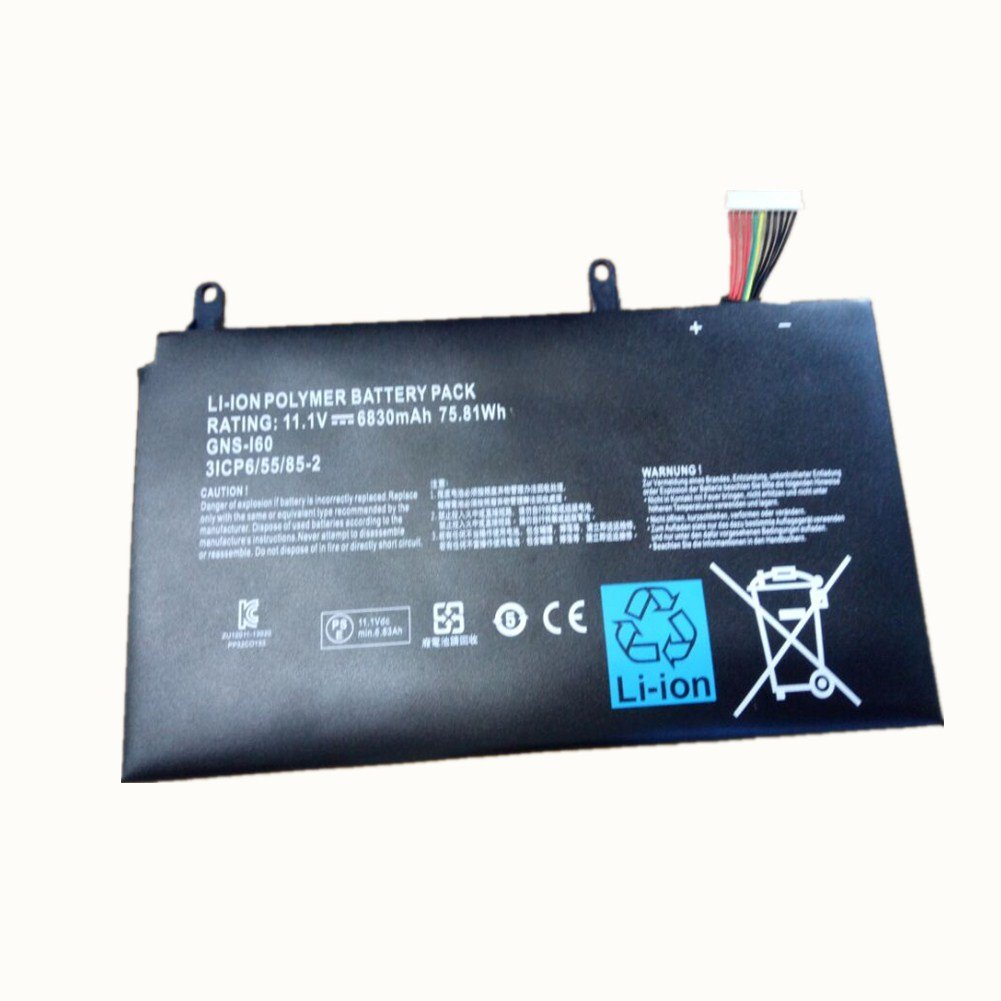 New Replacement 11.1V 6830mAh 75.81Wh Laptop Battery 961TA010FA GNS-I60 for GIGABYTE P35N P35W P35X P37K P57X