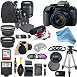Canon EOS Rebel T7i DSLR Camera Deluxe Creator Kit with Canon EF-S 18-55mm f/3.5-5.6 IS STM Lens + Wide Angle Lens + 2x Telephoto Lens + Flash + 32GB SD Memory Card + ULTIMATE Accessory DigitalAndMore