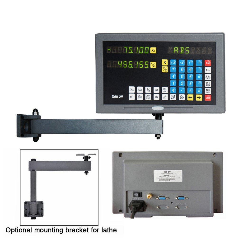 SINOCMP 2-Axis Micro Lineaer Scale Digital Readout System for Mill Lathe Machine