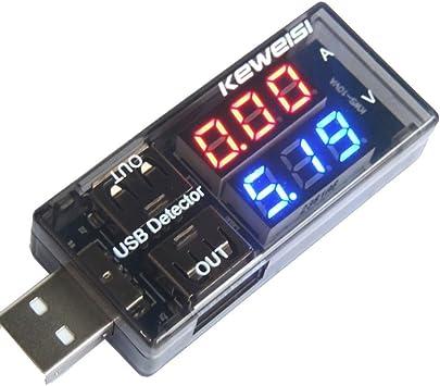 Mini USB LED Tension courant Détecteur charge Tester Batterie Voltmètre Ampère