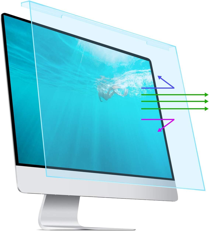 Filtro luz azul, anti deslumbre monitor de 25, 26, 27
