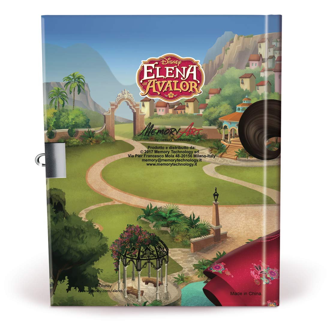 Memory Technology ed97324/Elena de Avalor Journal des Secrets avec Cadenas/ /Int/érieur Imprim/é /à Couleurs