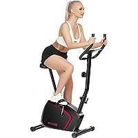 ANCHEER Bicicleta de Fitness 10 Niveles de Resistencia Magnética, Bicicleta Estática con Pantalla LCD, Bicicleta…
