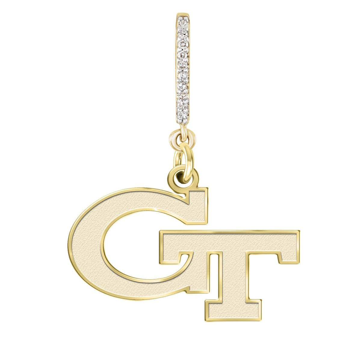 Georgia Technology Yellow Jackets Yellow Gold and Diamond Necklace | College Necklaces by College Jewelry