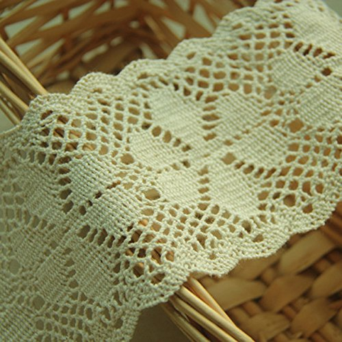 Cluny Lace Fabric - Beige 5 Yards 3 Inches Wide Grace French Cluny Lace Dress Lace Trim Fabric Ribbon Accessory Craft Lace