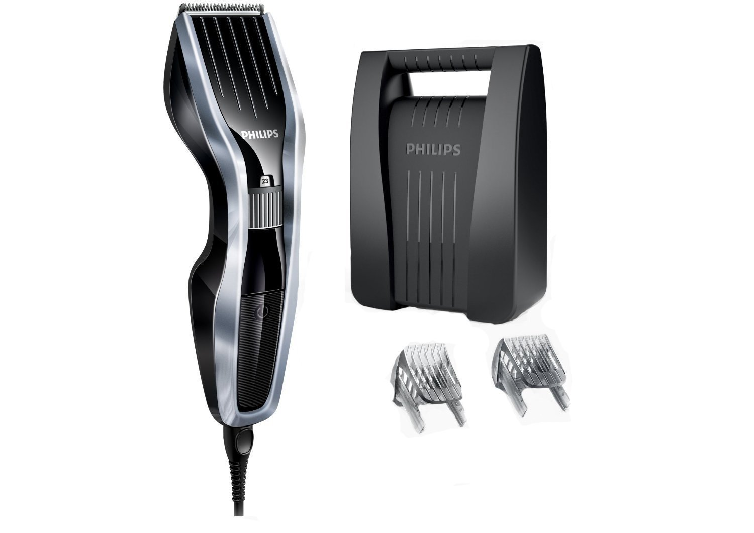 Philips Series 5000 Hair Clipper HC5410/83 with DualCut Technology and Beard Comb Attachments
