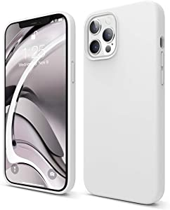 elago Liquid Silicone Case Compatible with iPhone 12 Pro Max 6.7 Inch (White) - Full Body Protection (Screen & Camera Protection)