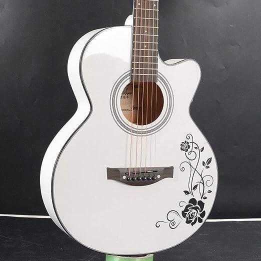 LOIKHGV Guitarras- Guitarra acústica de Madera de Color Blanco ...