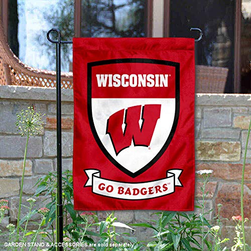 (College Flags and Banners Co. Wisconsin Badgers Shield Garden Flag)