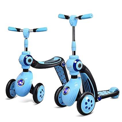 COSTWAY 2 en 1 Triciclo y Patinete con Rueda Scooter para ...