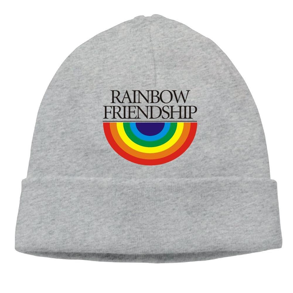 8743984c371 Amazon.com  Cuffed Beanie Knit Hats Skull Cap Wool Hat Daily Slouchy Hats  Rainbow Friendship Activewear Watch Cap  Sports   Outdoors