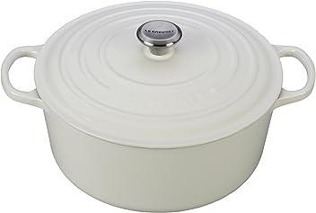 Le Creuset Signature Enameled Cast-Iron 9-Quart Round French (Dutch) Oven, White