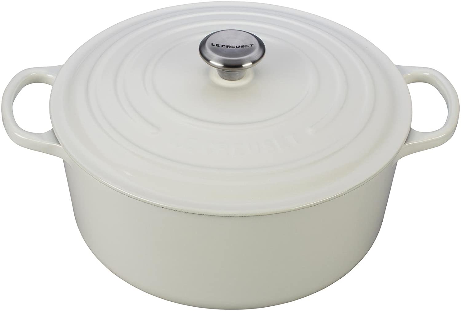 Le Creuset Signature Enameled Cast-Iron 9-Quart Round French (Dutch) Oven, White