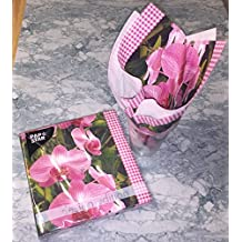 """Pack of 20 Dinner Napkins """"Design Edition"""" 3-ply 1/4-Fold 33cm x 33cm (Orchid)"""