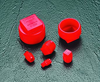 Red to Plug Thread Size 1//4 NPT Caplugs Inc. Caplugs 99390174 Plastic Threaded Plug for Pipe Fittings PE-HD P-28 to Plug Thread Size 1//4 NPT Pack of 100
