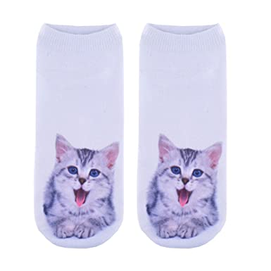 d5a606db35 Amazon.com  Doxi Cats Behaviour Funny Print Unisex Fashion Low-cut ...