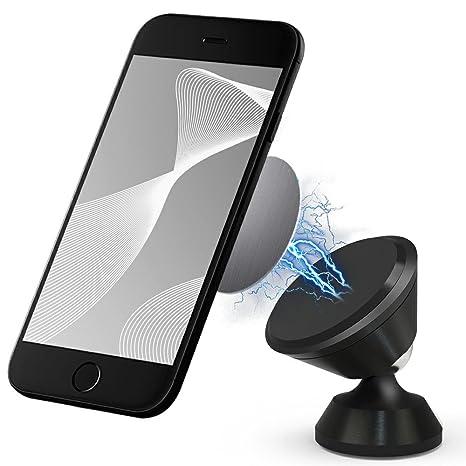 CLM-Tech Soporte movil Coche magnético, 360° rotación Ajustable automotor Titular de Smartphone