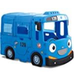 Boy Toddler Indoor Plastic Playhouse Bus Bed for Kids