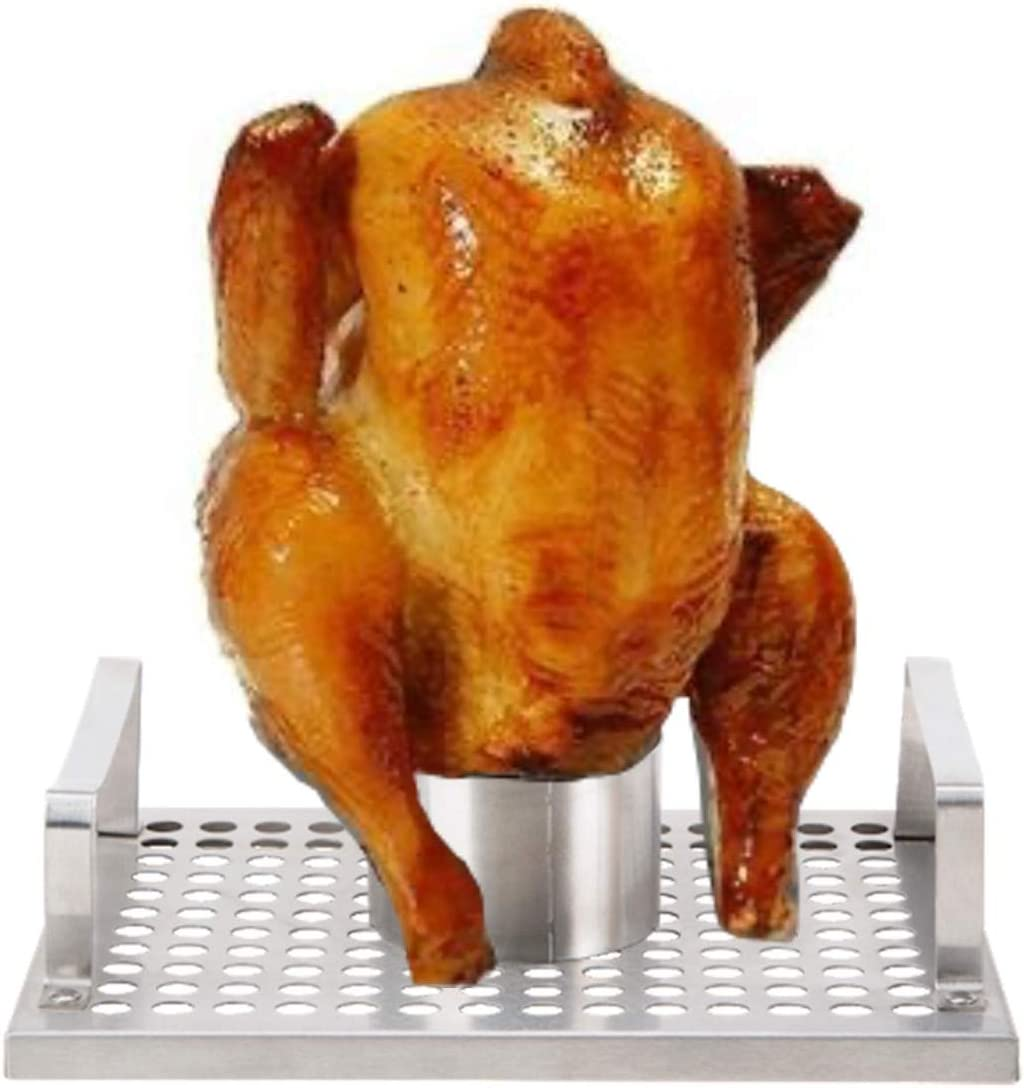 Rocky Mountain Goods Omaha Beer Can Chicken Holder - Stainless Steel Chicken Roaster for Grills, Smokers, Ovens - Heavy Duty - Dishwasher Safe (1)