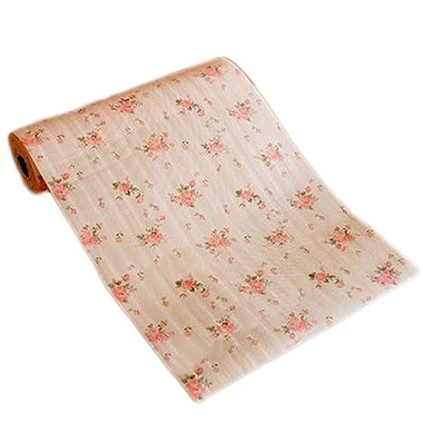 Laat alfombra de cajón de cocina impermeable al agua y antipolvo revestimiento antiadherente y forro interior creativa, 12 pulgadas por 10 pies, de ...