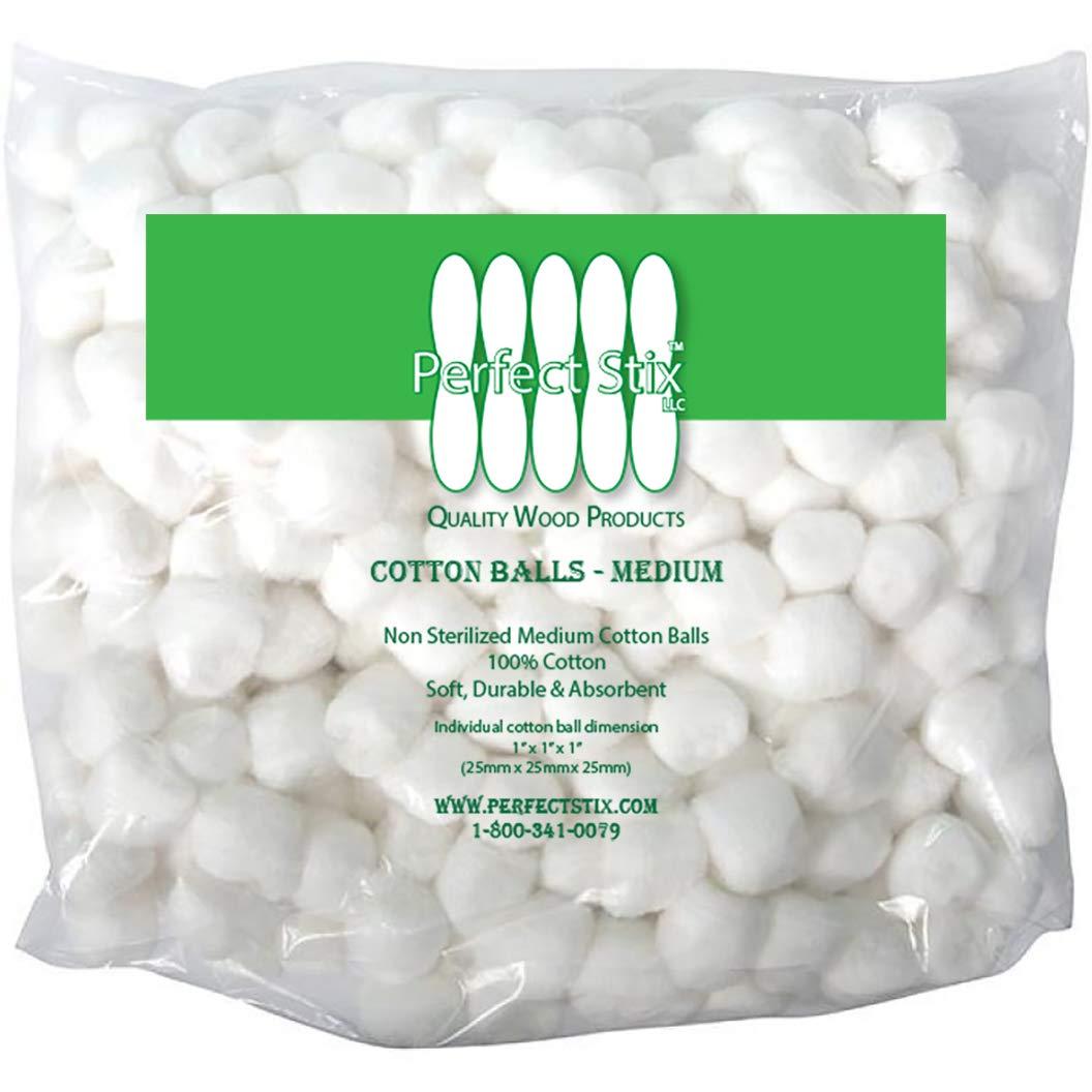 Perfect Stix Medium Cotton Balls 4-500 Packs 2000ct