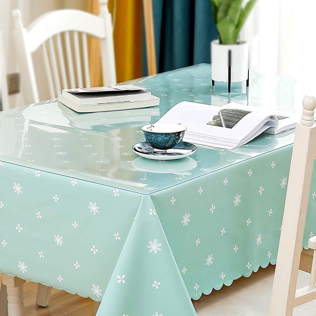 長方形のテーブルクロス、透明なPVC 1.3 mm厚いテーブルクロス+小さな新鮮なテーブルクロスの組み合わせセット CFJRB (Color : PVC+cloth, Size : 80X140+130X180cm) 80X140+130X180cm PVC+cloth B07SFVZGW4