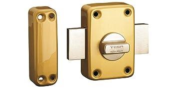 Tesa Assa Abloy, 2110TE4E, Cerrojo de seguridad con llave exterior y boton interior,