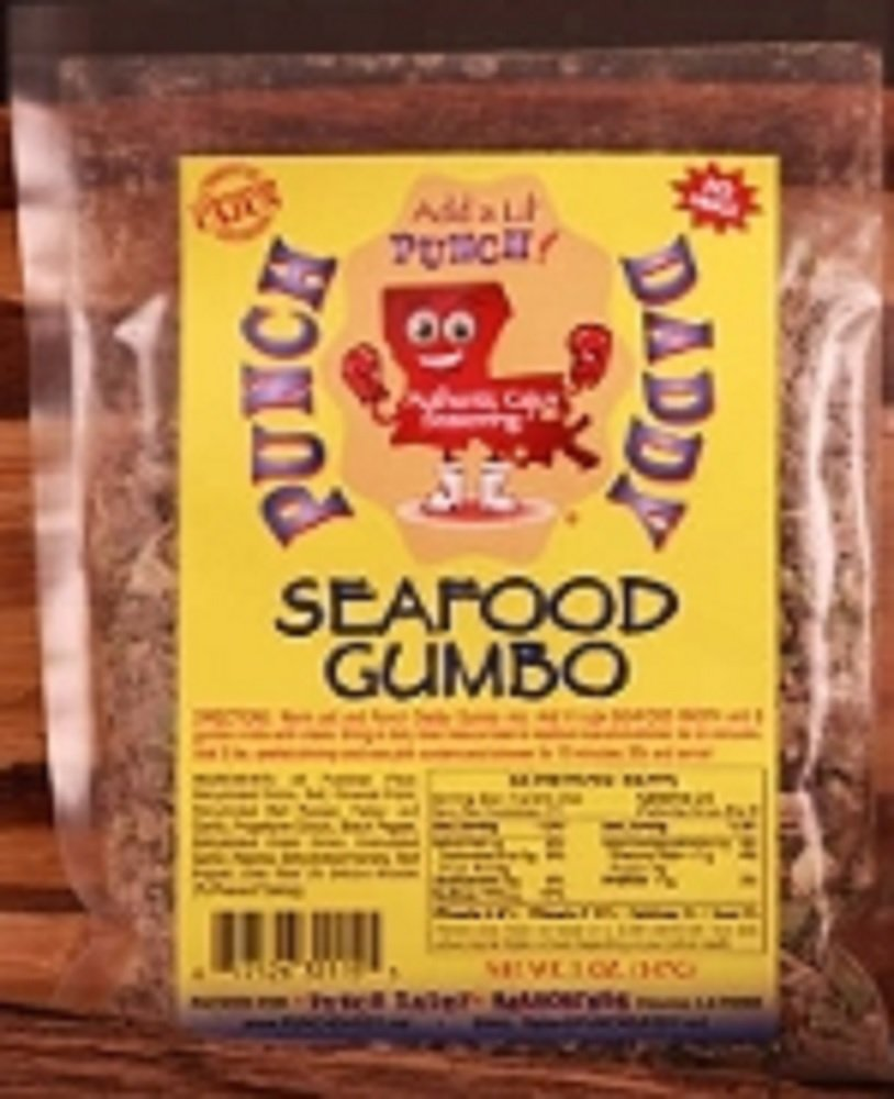Punch Daddy Seafood Gumbo Dinner Mix (No MSG), 5 Ounce Bag