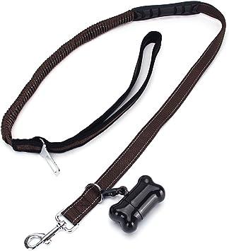 Dohot Premium Hunde Sicherheitsgurt Hundegurt Für Sicherheitsgeschirr Schaumstoff Griff Elastic Hund Leine Sicherheitsgurt Mit Hundekotbeutel Spender Für Kleine Medium Große Hunde Haustier
