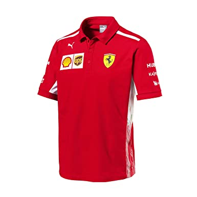 733176ab Ferrari Scuderia Formula 1 Men's Red 2018 Team Polo Shirt w/Sponsors ...