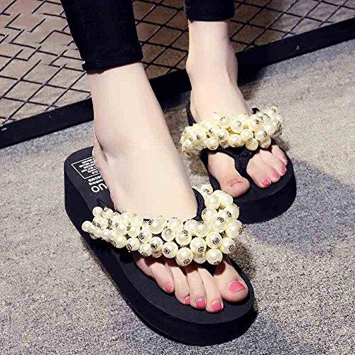 main CN36 plage Chaussures faits flops EU36 femmes Sandales taille HAIZHEN Flip Pour de d'été pour à Chaussons UK3 la 5 5cm 5 chaussures femmes xq4wwgaz