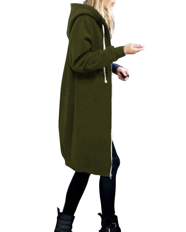 StyleDome Women's Long Sleeve Hooded Hoodies Jumper Warm Cardigan ...