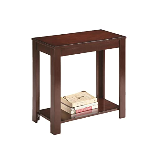 Ore International Traditional Side End Table, 24-Inch, Dark Cherry