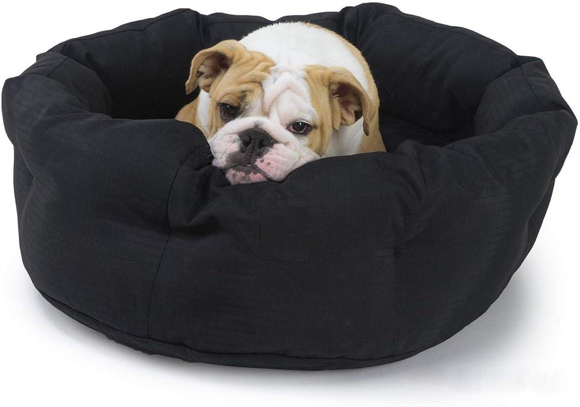 K9 Ballistics Round Dog Bed Deep Den, Bagel, Donut, and Deep Dish Style for Cuddler, Machine Washable