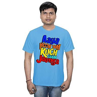Casotec Aaya Hoon Toh Kuch Lekar Jaunga Designer Polyester Sports Round Neck T-Shirt - Yellow
