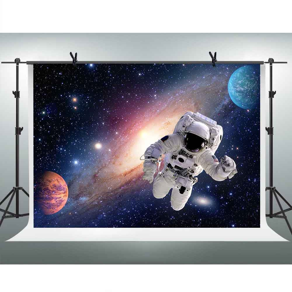 Astronauts Explore the Universe Backdrops for Photography 7x5ft FHZON Broad Wonderful Solar System Background Astronomy Enthusiast Newborn Photography Props Banner Wallpaper LXFH198 by FHZON