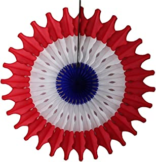 product image for Devra Party 6-Pack 18 Inch Honeycomb Tissue Paper Fan (Red/White/Blue)