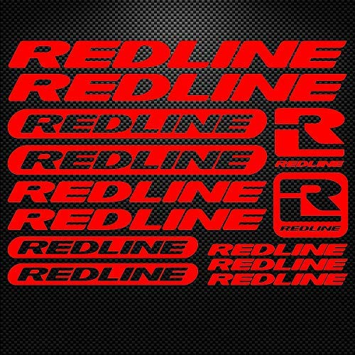 bbbf2895a75 1 set for Redline Vinyl Sheet Bike Frame Cycling Bicycle Decal Motor  Cartoon stickers car styling decorative car body stickers