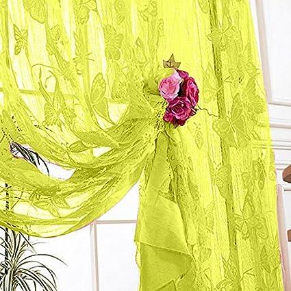 Pink vanpower Solid Color Butterfly Pattern Tassel String Door ...