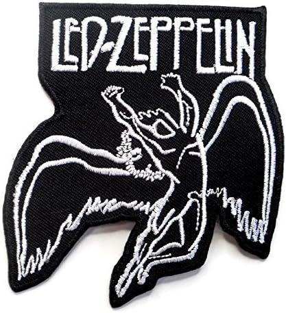 【ノーブランド品】アイロンワッペン  ロック バンド 音楽(バンド) ワッペン 刺繍ワッペン LED-ZEPPELIN アイロン