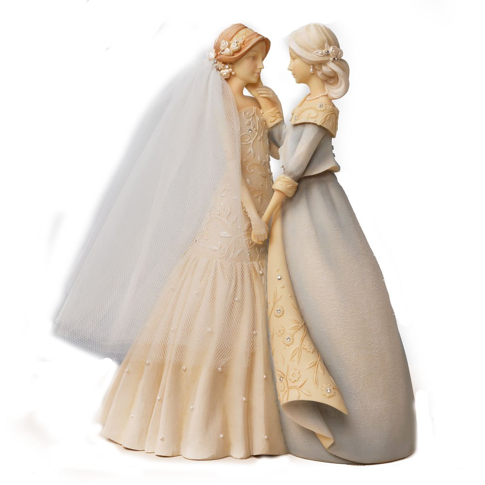 Amazon.com: Enesco Gift Foundations Bride & Mother Stone Resin ...