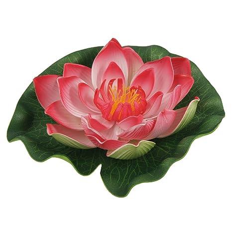 sourcing map Espuma verde rojo decoración acuática Lotus Pecera