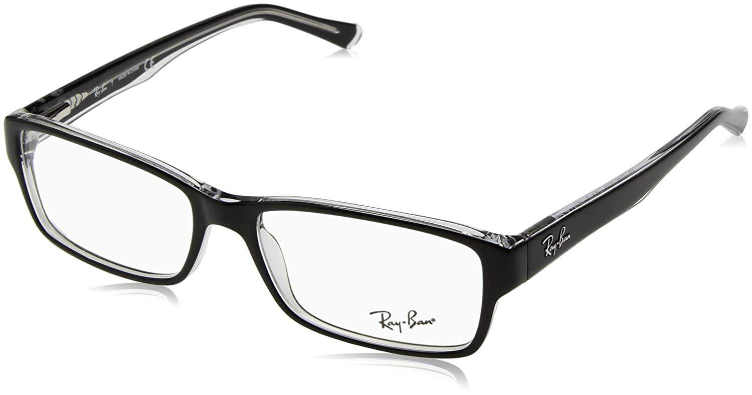 a76055c2e60cf Ray-Ban Wayfarer RB 5169 Rb 5169 2034 54mm Black Eyeglasses RX Ready Frame   Amazon.ca  Clothing   Accessories
