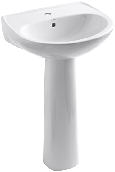 Sterling 442121 0 Sacramento Pedestal Lavatory Single Hole Faucet Drilling,  White