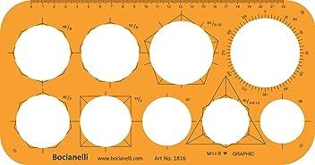 Large Circle Circles Shapes Figure Symbols Drawing Drafting Template Stencil