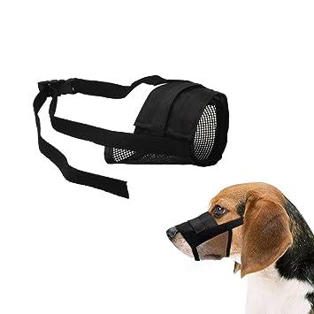 Bozal para Perros, Bozal Bulldog Frances Pequeño Ajustable para Perros Grandes, Medianos y Pequeños